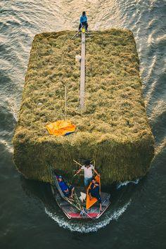 Floating lives.  Mekong river, #Vietnam.  #IndochinaJunk #Travel
