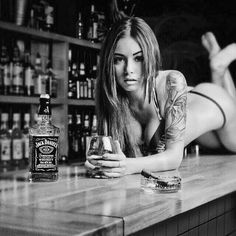 All things Jack Daniel's: Photo Jack Daniels Cocktails, Jack Daniels Whiskey, Bourbon Whiskey, Pinup, Whiskey Girl, Gentleman Jack, Provocateur, Continue, Inked Girls