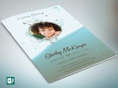 """Blue Princess Funeral Program Publisher Template is for Memorial or Home Going Services for girls or boys. Designed specifically for funerals, but can be edited for other events. The files are conveniently easy to use. All you need to do is, """"Edit, Save, Print""""  This is a Microsoft Publisher Template (.pub) designed by Godserv to be edited with Publisher 7 and higher. Once you have downloaded this template, use Microsoft Publisher 7+ to make edits to this template.  WHAT""""S INCLUDED 1…"""