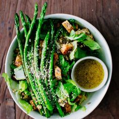 The best spring salad you'll ever have. So crisp, crunchy, and flavorful! Vegan + gluten-free.