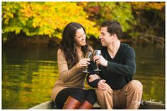 Jennie and Geoff | Row Boat Engagement Session | Fall Engagement Session | http://www.AnyaAlbonetti.com