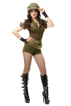 Sgt Stunning Adult Costume | Military Costumes | Traditional Costumes