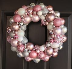 A personal favorite from my Etsy shop https://www.etsy.com/listing/573212161/pink-ornament-wreath