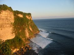 Cliff at sunset, Bali