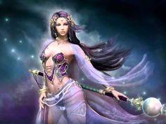 fantasy girl with purple braids - Fantasy pictures and fantasy images Fantasy Warrior, Fantasy Witch, Fantasy Girl, 3d Fantasy, Warrior Girl, Fantasy Women, Warrior Queen, Witch Art, Warrior Princess