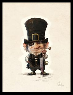 Humbug, a cute Dickens Kobold by Jean-Baptiste Monge Art And Illustration, Illustrations, Magical Creatures, Fantasy Creatures, Jean Baptiste, Pixies, Art Plastique, Photomontage, Faeries