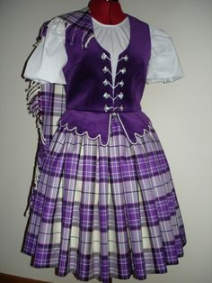 Aboyne with purple vest #mackellar #purple #tartan