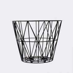 Cesto alambre pintado Wire Basket Medium Black mediano negro ferm living 3063 ottoyanna
