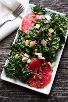 Orange Tahini Dressing and Kale Citrus Salad