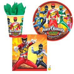 Power Rangers Dino Charged Tableware - 8 Guests