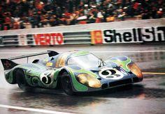 "Porsche 917LH, 1970 LeMans, In the insanely cool ""Hippie"" livery."