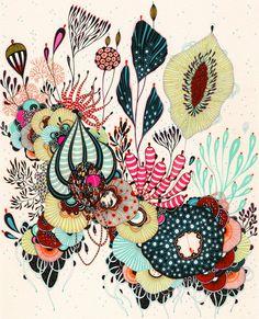 Giclee Fine Art Print alegría imprimir por yellena en Etsy