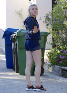 Chloe Moretz In Shorts Out In Los Angeles