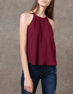 At Stradivarius you'll find 1 Top halter tachas for woman for just 199 MXN . Visit now to discover this and more TOPS.