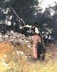 dans les oliviers de capri by sargent: need to get a good print of this painting