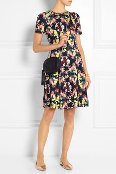 ERDEM Armel floral-print stretch-jersey dress