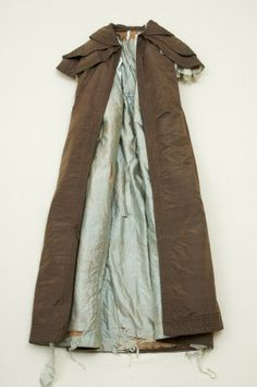 p125 Woman s cloak cape dating from c1830 s. Fabric - Falcon brown silk.  Lining bb47b4c4a