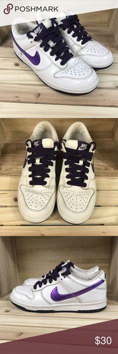 Nike Swoosh Womens Sz 7 Purple White Sneakers Nike Swoosh Women s Purple  White Sneakers SIZE  8ad6fe175e