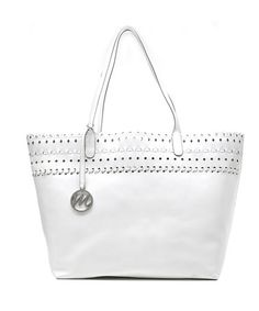 Take a look at this White Shannon Tote by emilie m. on #zulily today!