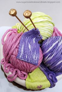 Sugar Sweet Cakes and Treats: Mom's Knitting Basket Cake Gorgeous Cakes, Amazing Cakes, Knitting Cake, Piping Patterns, Sport Cakes, Sculpted Cakes, Knit Basket, Cake Tutorial, Knit Or Crochet