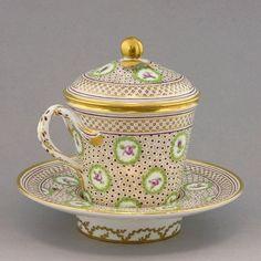 Marie Antoinette's Porcelain Rue de Thiroux (Paris, France)  —  Covered  Cup and Saucer  (800x800)
