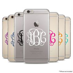 This is for a RUBBER CLEAR CASE.  To Order:  1. Choose a Phone Model From the dropdown menu and add to cart. 2. To leave your Initial(s), leave a note in the Add a note for Lili Designers... box during checkout.  --Monogram Etiquette:----  ***I do not rearrange initials to create monograms. It is the buyers responsibility to leave the letters exactly as they are to appear on the item***  MONOGRAMS are traditionally in order of First, LAST, middle name. If you name is John A. Lopez then your…