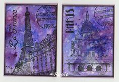 Rosie's Bastelwelt - Paris - ATCs
