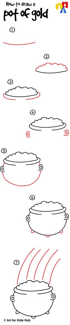 Learn how to draw a really simple pot of gold!