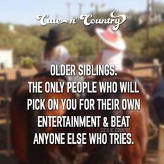 I have 3 older siblings and 2 younger and yes this is so trueee