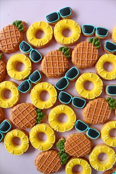 Summer Pineapple cookies