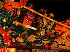 Aomori Nebuta Matsuri / A festival to be held every year in Aomori-shi, Aomori from August 2 to 7th.  It is the important intangible cultural asset of the country.  As for the material, the size is 9m in width, 7m in depth, 5m in height, 4 tons in weight a Japanese paper to wire in Maine.