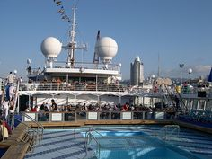 Swimming pool on the cruise ship, Dream Princess, formerly Song of Norway - 2005by Brian Negin, via Flickr