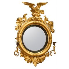 Shop convex mirrors and other antique, vintage and modern mirrors from the world's best furniture dealers. Georgian Furniture, Mirror Plates, Convex Mirror, Vintage Mirrors, Acanthus, Arabesque, Decoration, Regency, Cool Furniture