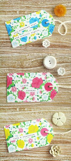 vintage floral printable tags {summer}