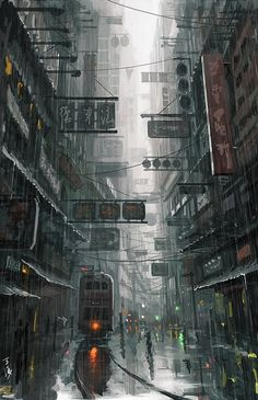 """""""Hongkong"""", Wang Ling, Digital, 2012 : Art"""