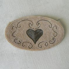 VINTAGE CHARLET PEARL BEADED HEART CLUTCH PURSE JAPAN #Clutch