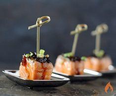 Bourbon-Glazed Salmon Appetizer