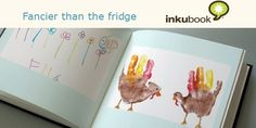 Make photobooks out of kids artwork, Inkubook, Picaboo, Shutterfly.