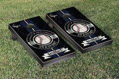 South Carolina Beaufort Sand Sharks Classic Baseball Logo Cornhole Set