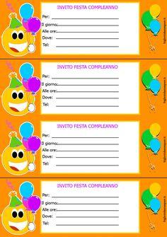 Biglietti Invito Compleanno Per Bambini Da Stampare Inviti Di