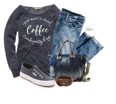 """""""Coffee & Pretty Things!"""" by tmlstyle on Polyvore featuring J.Crew, Campomaggi, Superga and HTC"""