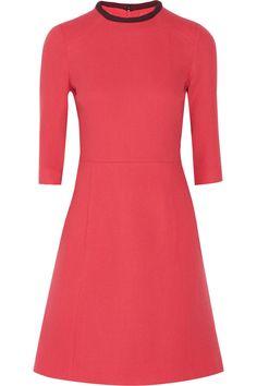 Victoria, Victoria Beckham|Wool-crepe mini dress