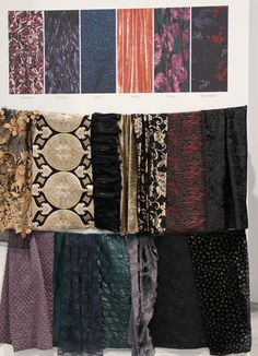 Raven fall 2016 winter 2017 trend forecast materials on The Key To Chic
