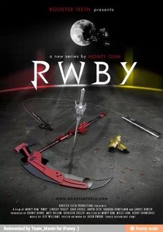 Another cool promotional RWBY fanart. But this time it's just their weapons... and it looks just as awesome!