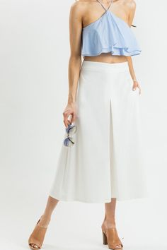 Kelly Ivory Culottes – Morning Lavender
