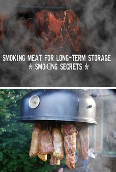 Smoking Meat for Long-Term Storage – Smoking Secrets - Ever since I can remember, my family has been smoking meat both as a hobby and as a long lasting food preservation method. If you have a good meat source that provides you with all the meat your famil Survival Food, Survival Prepping, Canning Recipes, Meat Recipes, Oven Recipes, Konservierung Von Lebensmitteln, Long Term Food Storage, Smoking Recipes, Best Meat