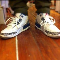 Air Jordan 3 Retro True Blue #jordan #sneakers