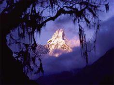 Photography trick - white mountain