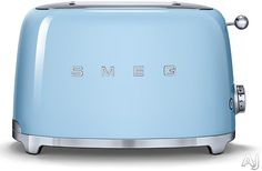 Smeg 2 Slice Toaster TSF01RDUK £99.99 This stylish TSF01RDUK Smeg retro #toaster with a red finish is the perfect addition to any traditional or contemporary #kitchen.