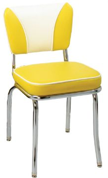 These are  the chairs I would have, 2 yellow, two red......they look so comfortable!